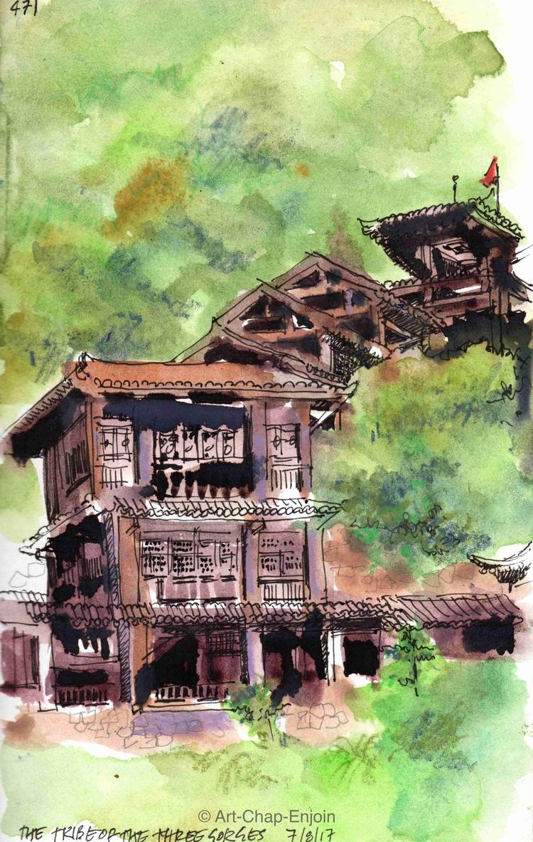 - tribe gorges sketch Yangtze r - artchapenjoin | ello