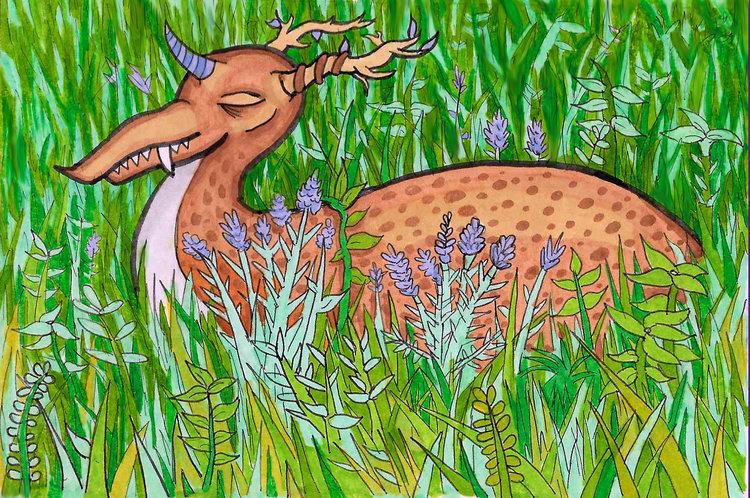 Deer Dragon Ink Copic marker br - toryerpenbeck | ello