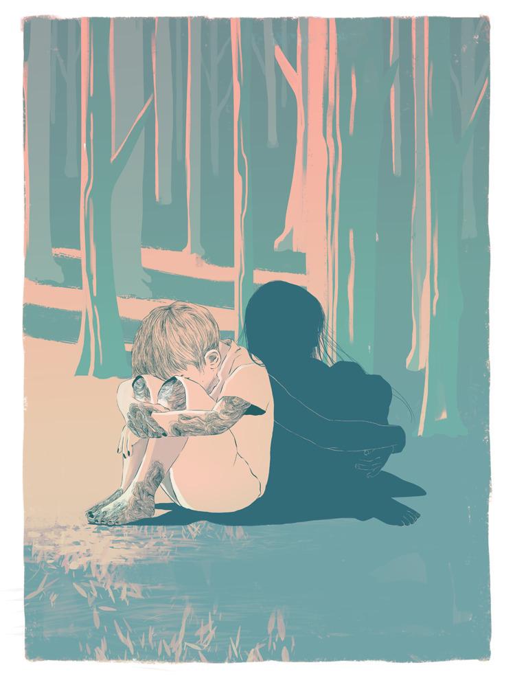 Shadow Kids leaving world, sumi - alterlier | ello