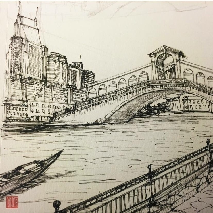 imagine Rialto bridge Nashville - minhnghiem | ello