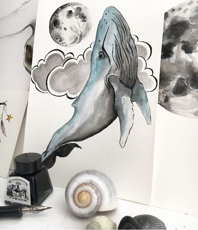 Whale Medicine . watercolor. in - ommaker | ello