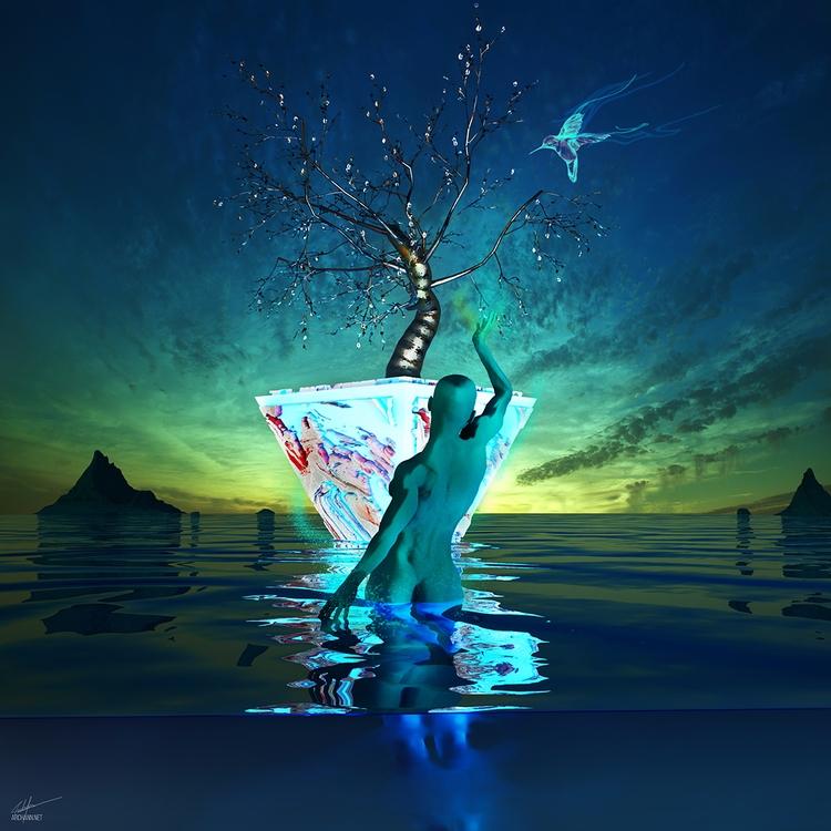 Reaching - art, illustration, digitalart - archannair | ello
