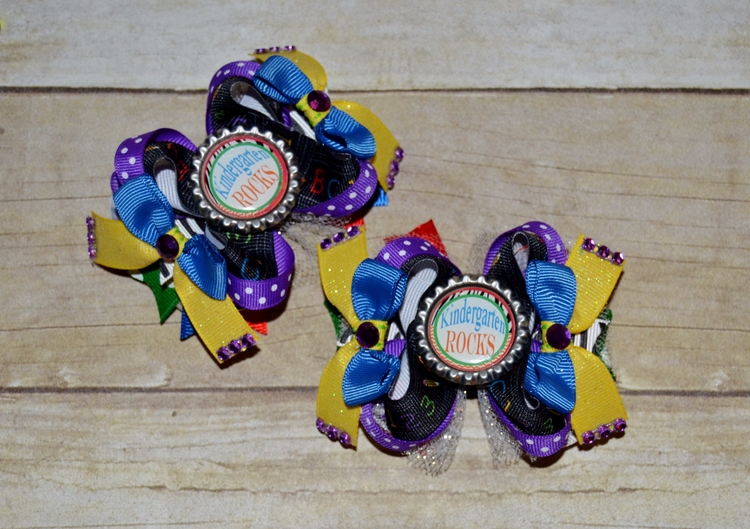 pair ott pigtail hairbows Rocks - kattskreations | ello