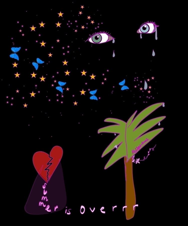 Summer sad - art, illustration, summer - redlipsivania | ello