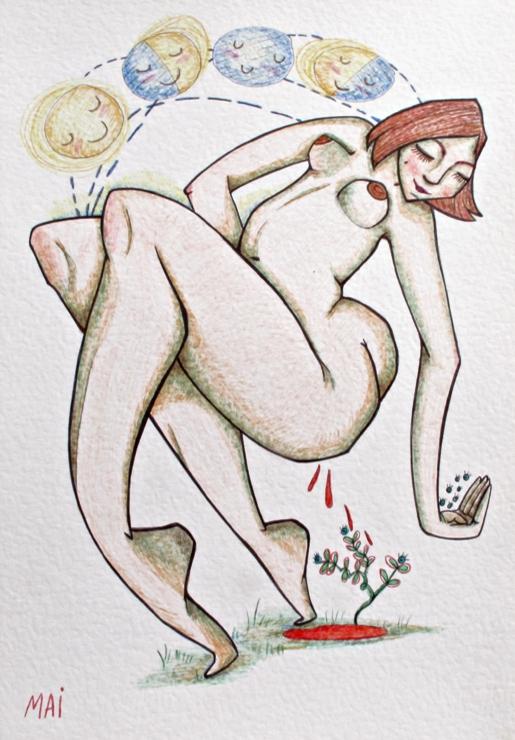 illustration...Moon Blood - mailustra   ello