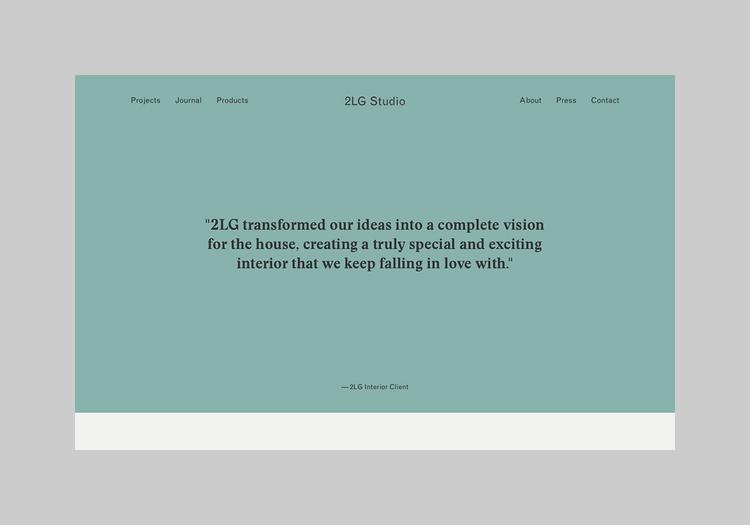 Website interior design studio  - northeastco | ello