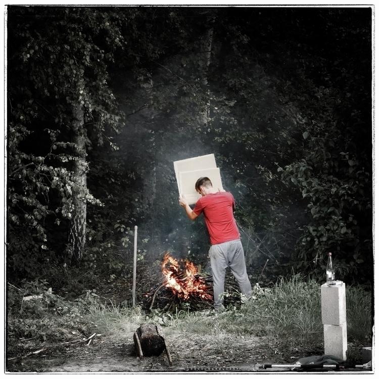 sebastien, fireplace, themanwithhisfire - willkreutz | ello