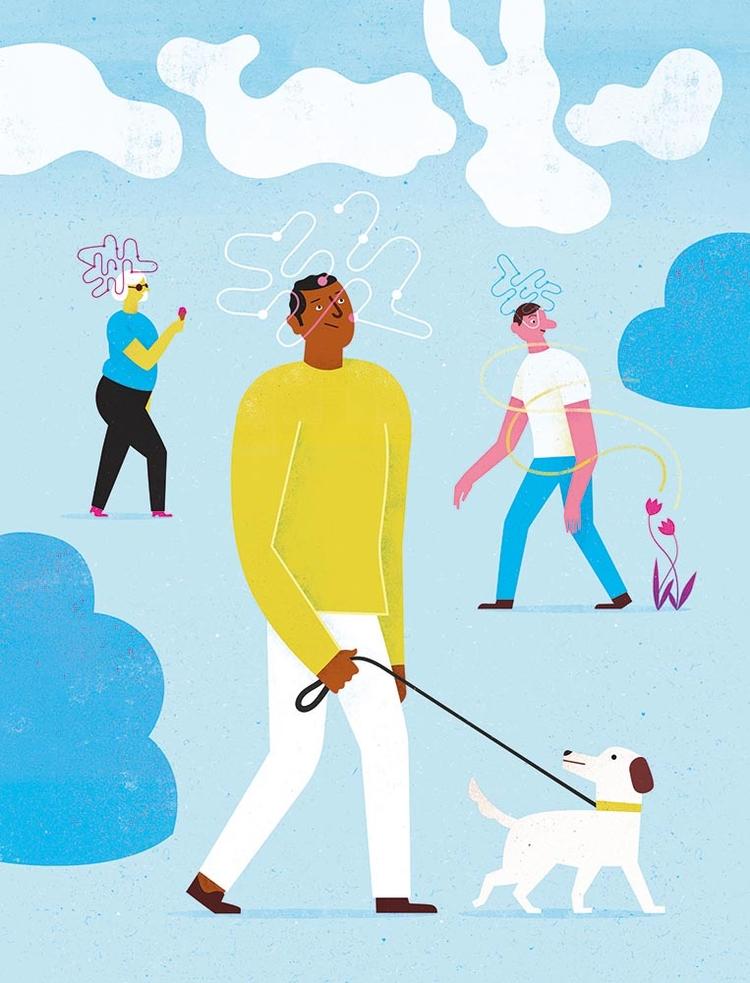 consiousness, stroll, illustration - l1en | ello