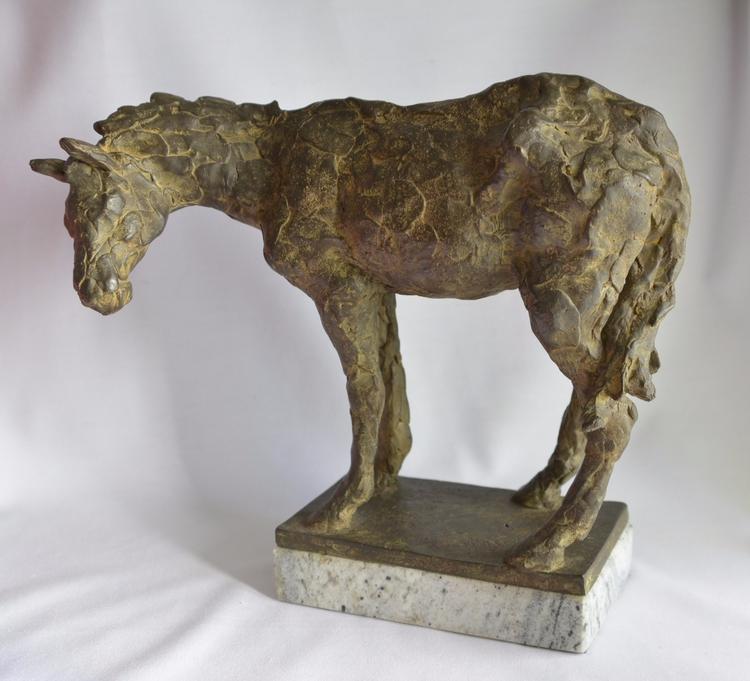 DONKEY , CAST BRONZE, UNIQUE PI - barakesculptor | ello
