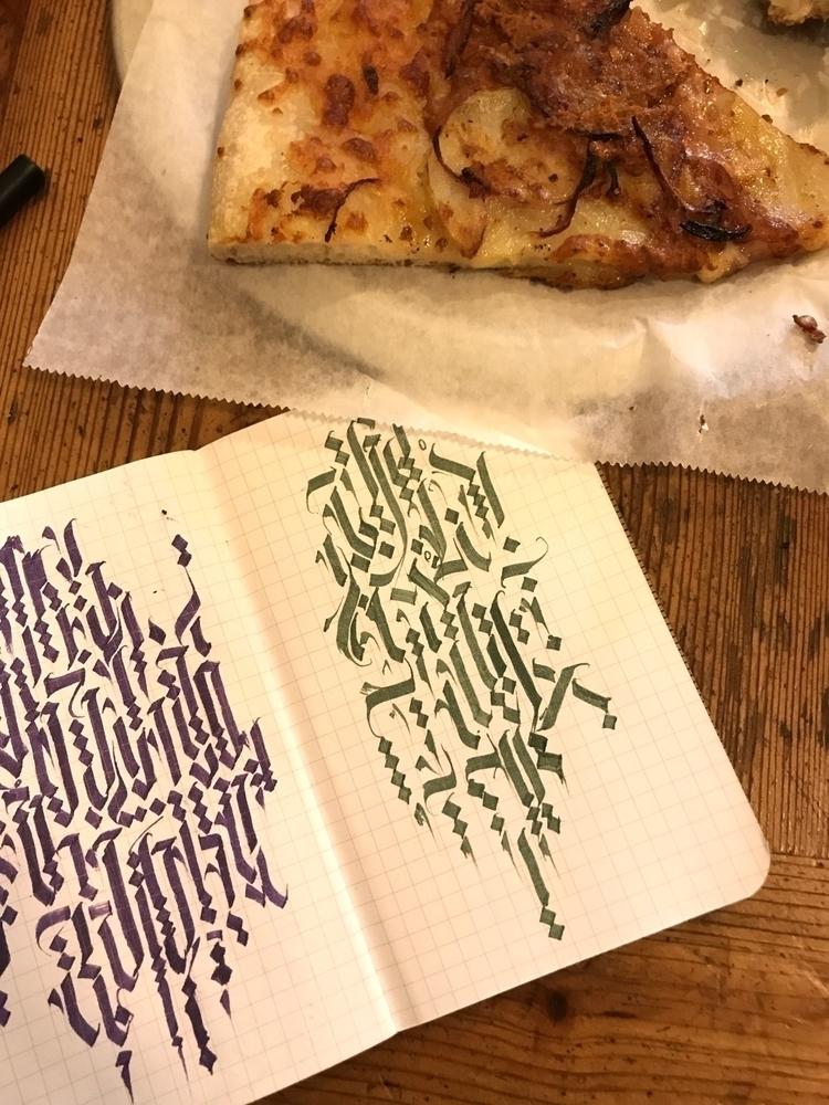 Pizza, creative., calligraphy - boris_jov   ello