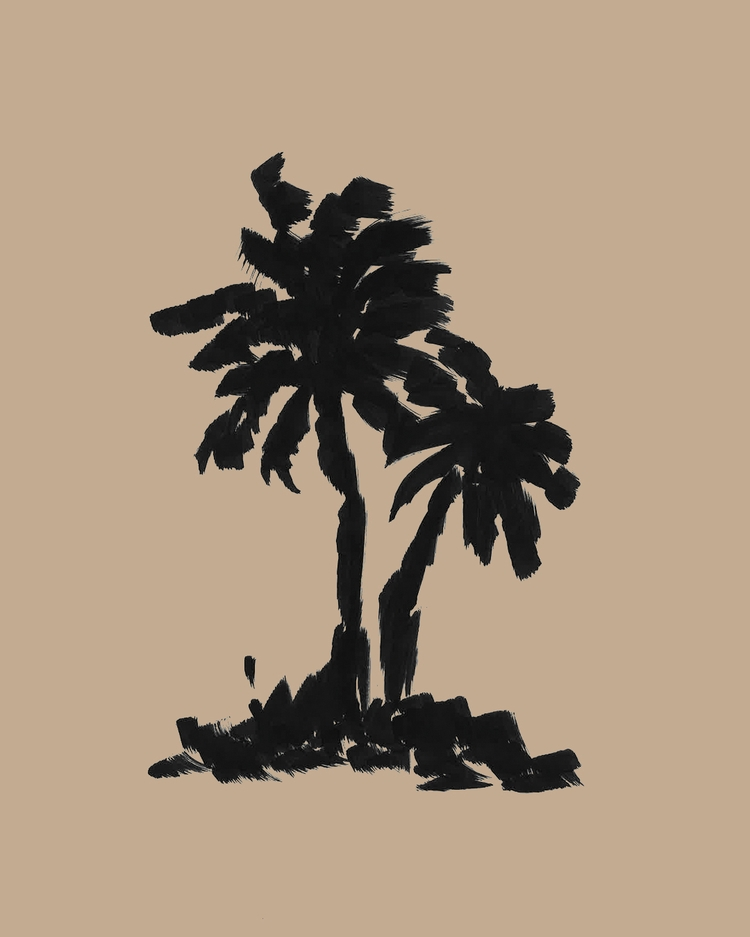 Palm Trees - illustration, design - lencreur | ello