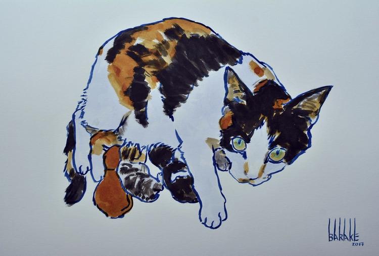 CAT MATERNITY III , PROTECTIVE  - barakesculptor   ello