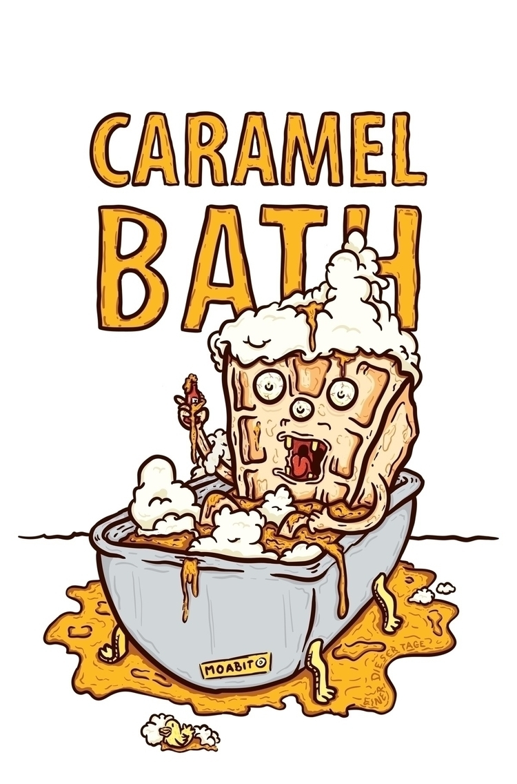 caramel bath designed ice cafe  - pencake | ello
