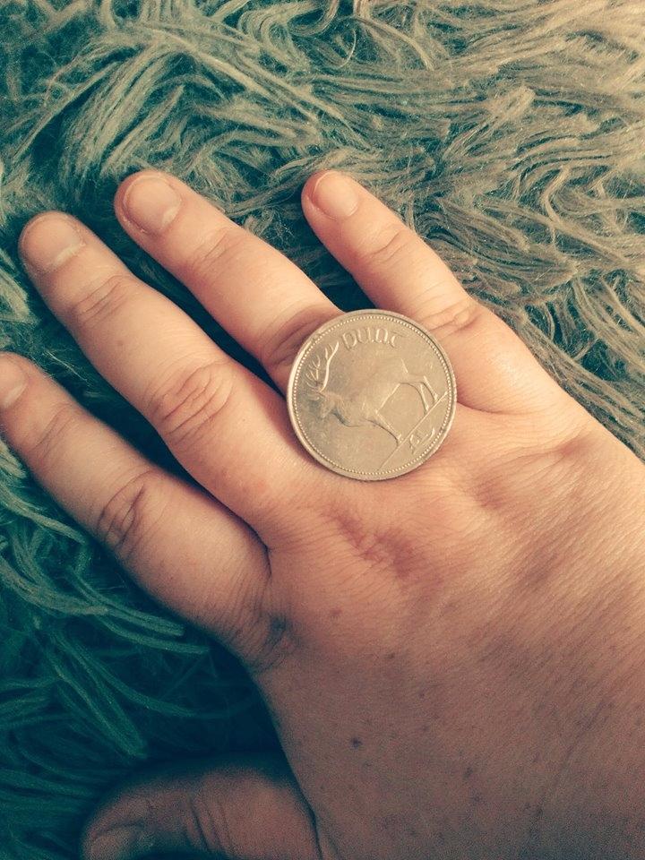 Irish pound coin thought cool r - ruthohaganartist | ello