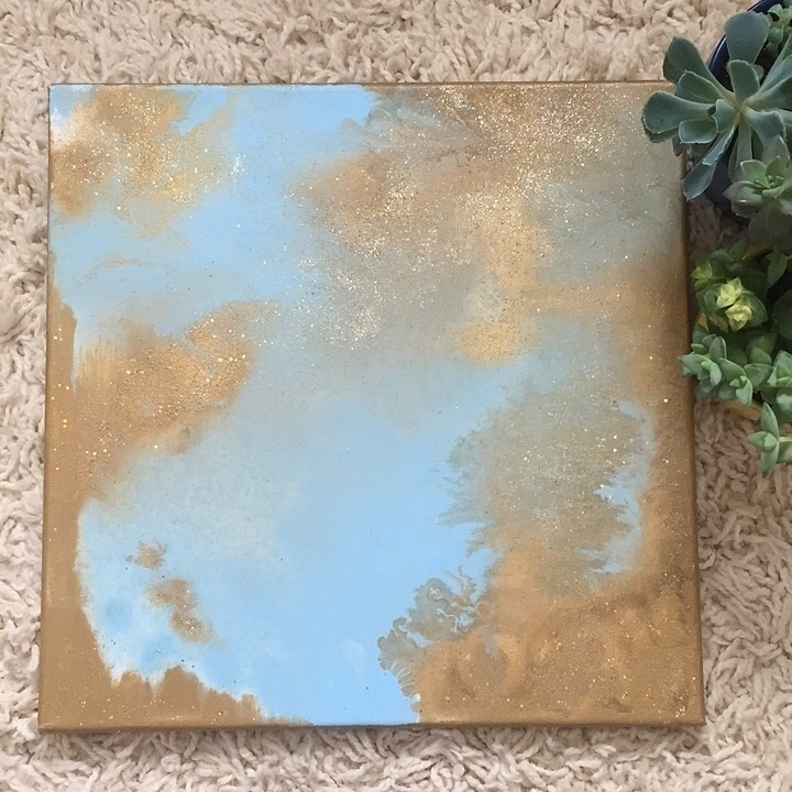 Golden Goddess • 12x12 acrylic  - artbykaylabraden | ello