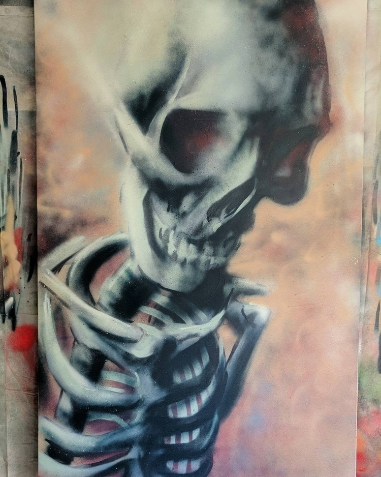 Skeleton canvas 140x100cm spray - __jask__ | ello