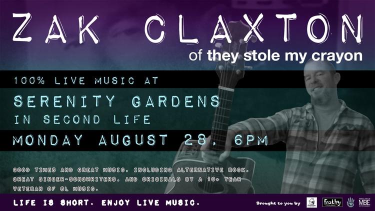 TONIGHT (Mon Aug 28), 6PM SLT:  - zakclaxton | ello