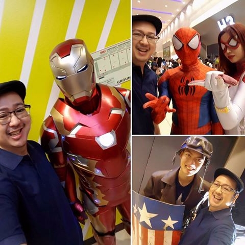 Chillaxing, IronMan, Spiderman - vicsimon | ello