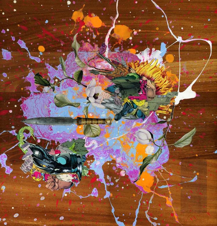 'Penetrate' Acrylic Paper Colla - annarindos | ello