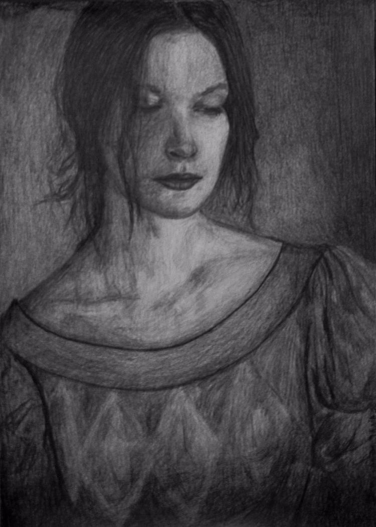 model, polish, pencil, sketch - maksmj | ello