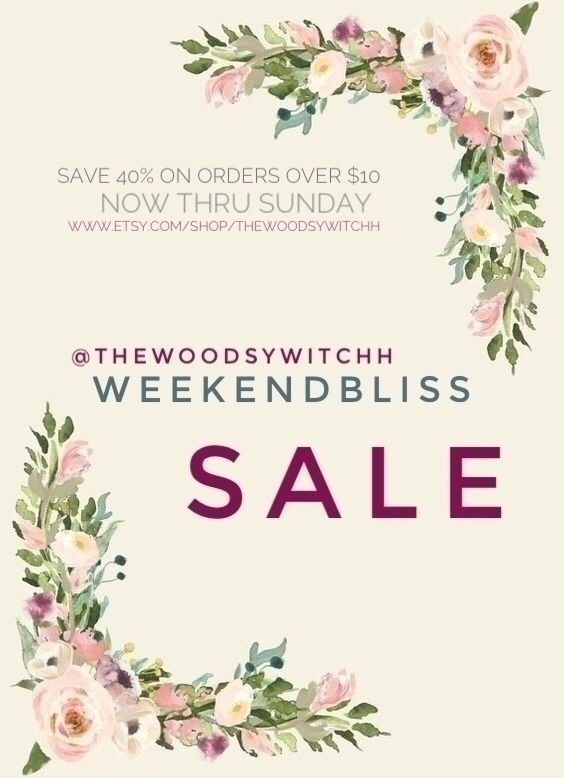 Sunday, save 40% order $10! cou - thewoodsywitchh   ello