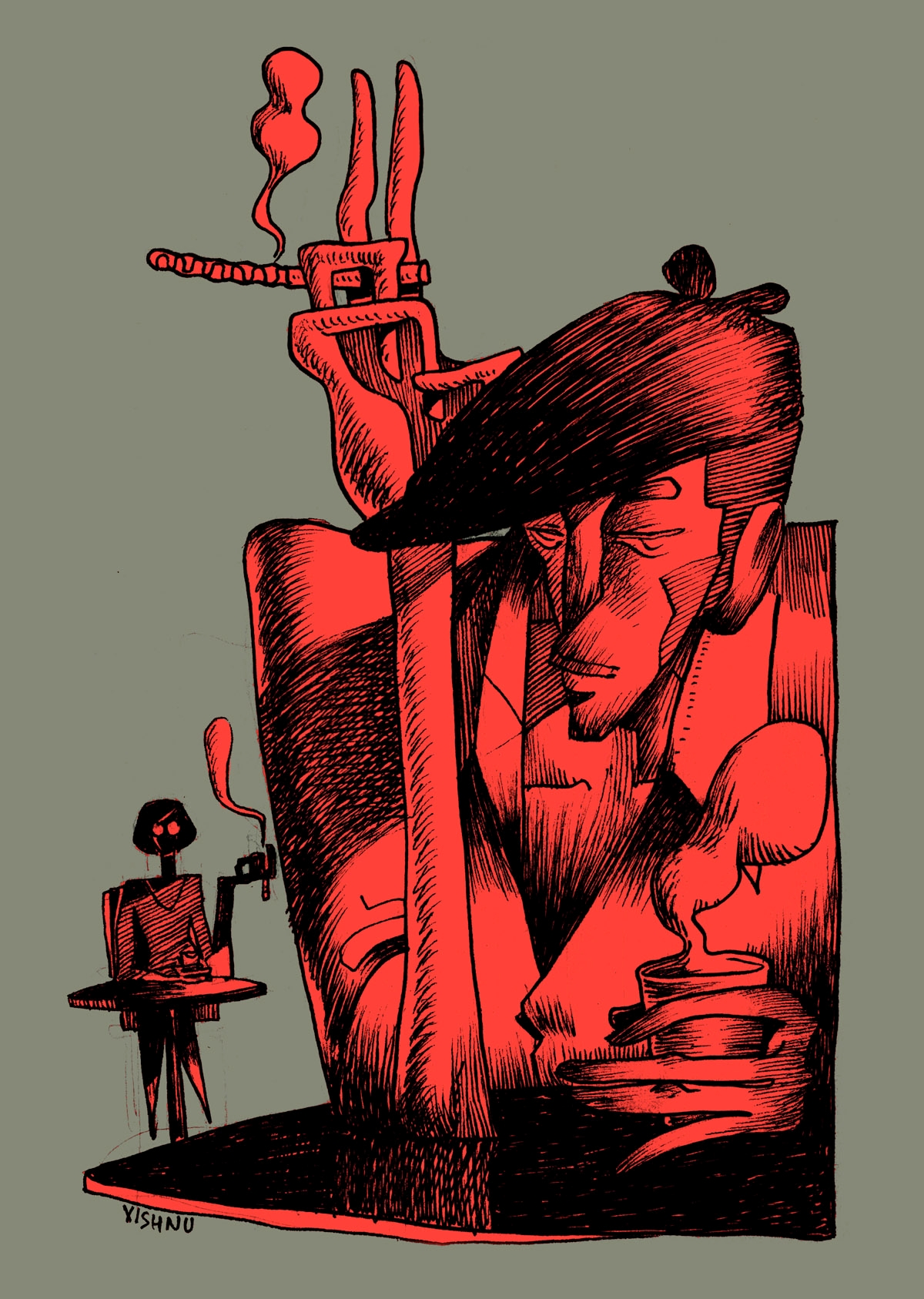 2/ Vishnu Nair 24 year Illustra - xishnu   ello