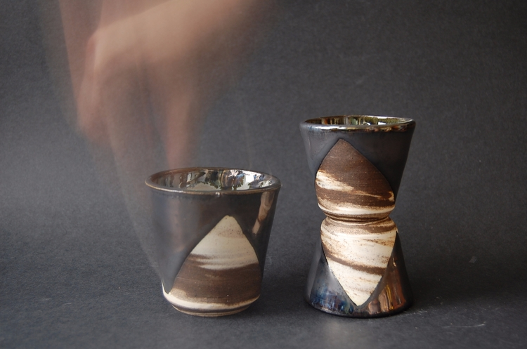 Marble Cups - marbling, ceramic - mrschachter | ello