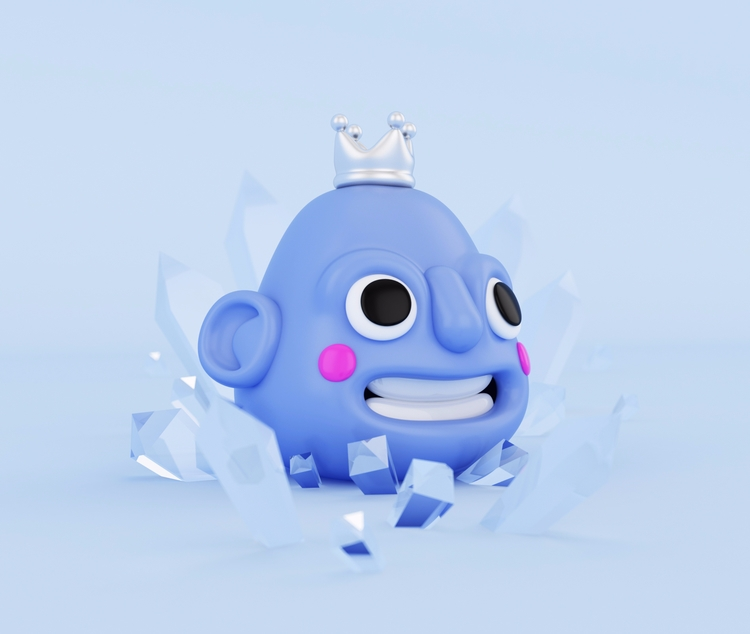 Follow  - monster, frozen, 3D, frost - oscarasecas | ello