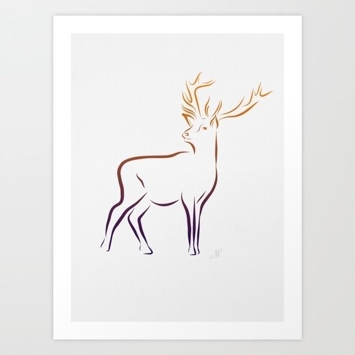 Forest stag. inspired wandering - emjwalker | ello