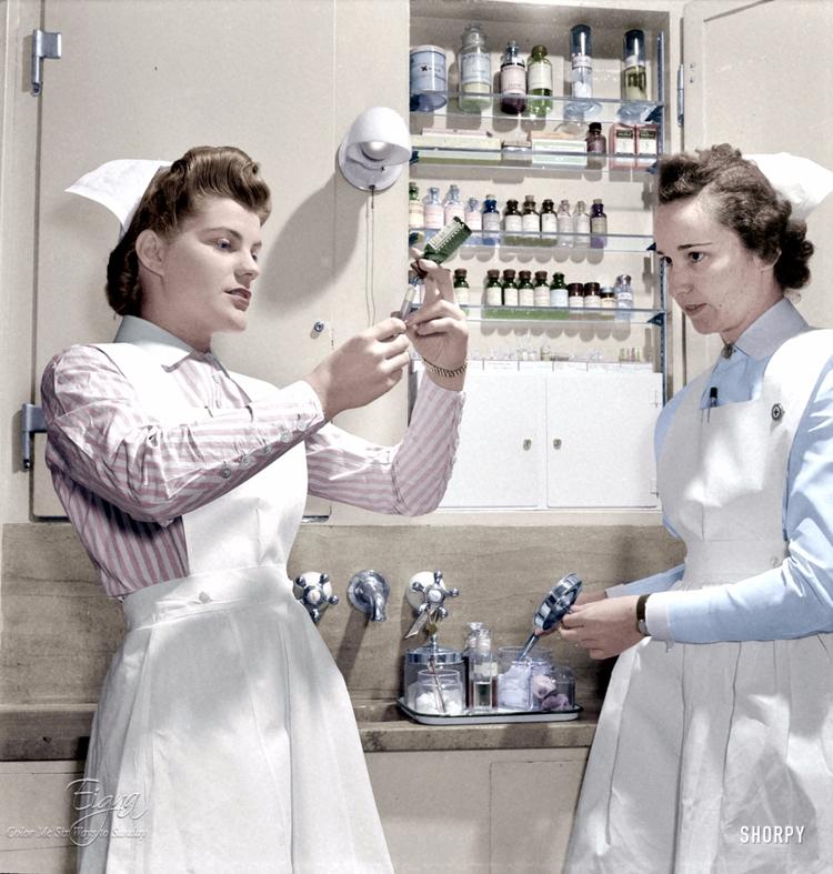 Nurse Needles 1942 - colormesixwaystosunday | ello