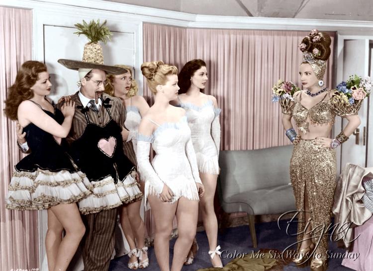 Groucho Marx Carmen Miranda Cop - colormesixwaystosunday   ello