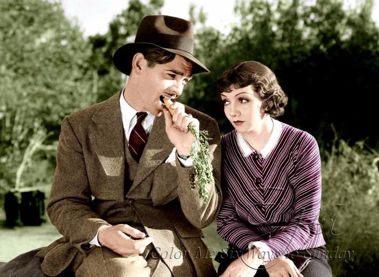 Clark Gable Claudette Colbert H - colormesixwaystosunday | ello