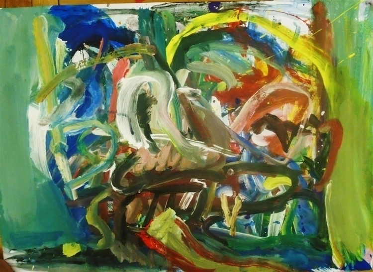 kiss - painting, art, expressionism - giannisrallis | ello