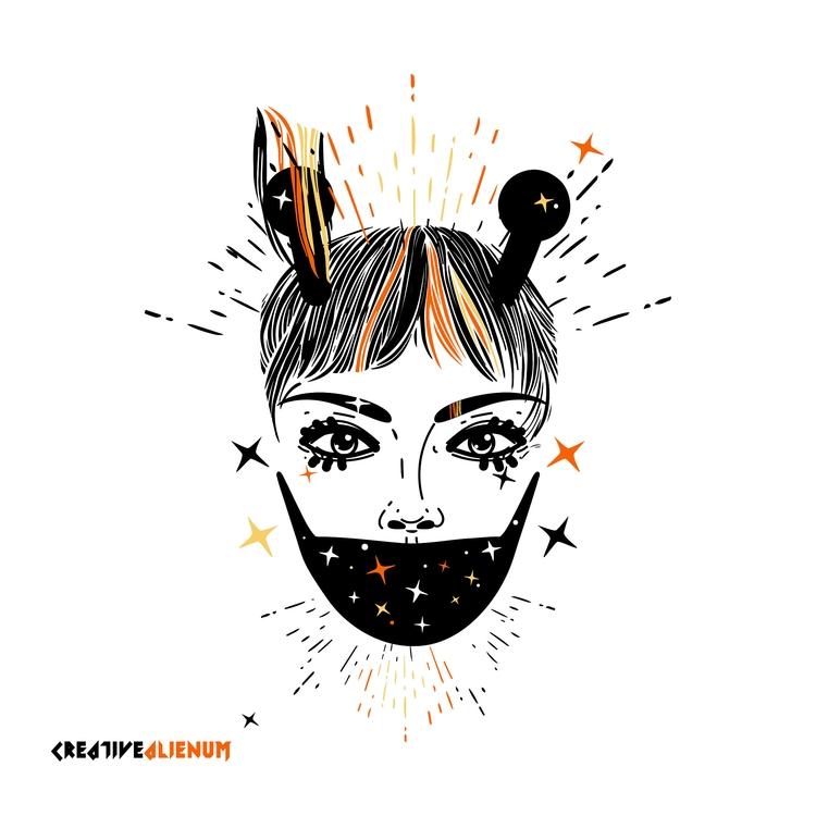 STAY ! illustration ^.^ SUPPORT - creativealienum | ello