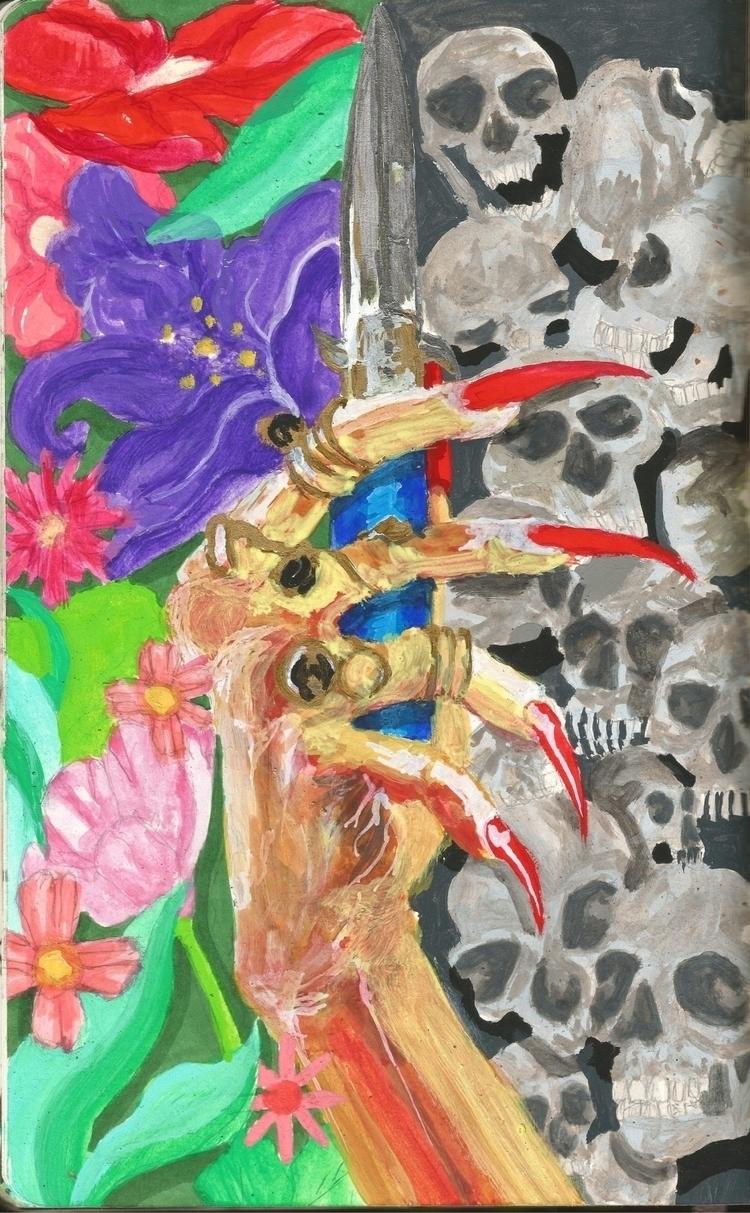 LIFE DEATH    - artwork, art, canvas - drugquests   ello