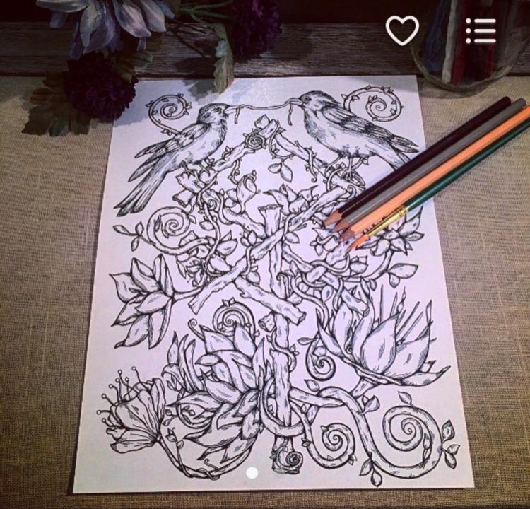 coloring page Etsy shop, find - art - nicolewhelanart | ello