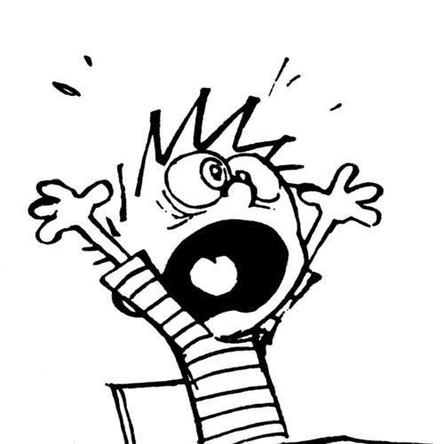 Panicked Calvin :copyright:Bill - fivecats | ello