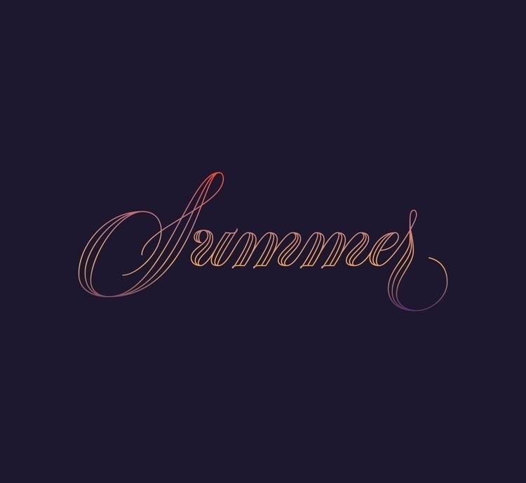Summer - type, lettering, design - rebeca-anaya | ello