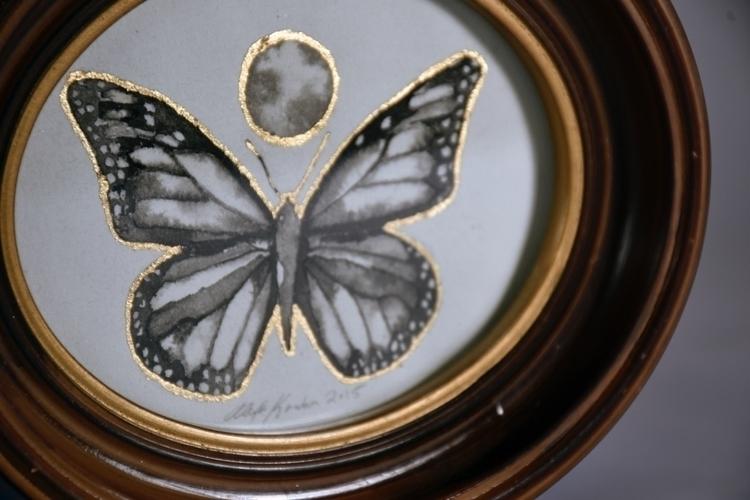 small butterfly 2015, framed sh - alexakarabin | ello