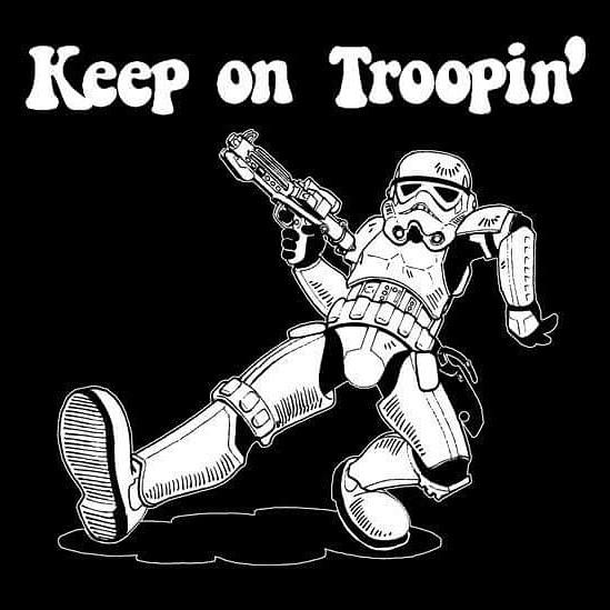 trooping / attending stay safe  - spacemonster | ello