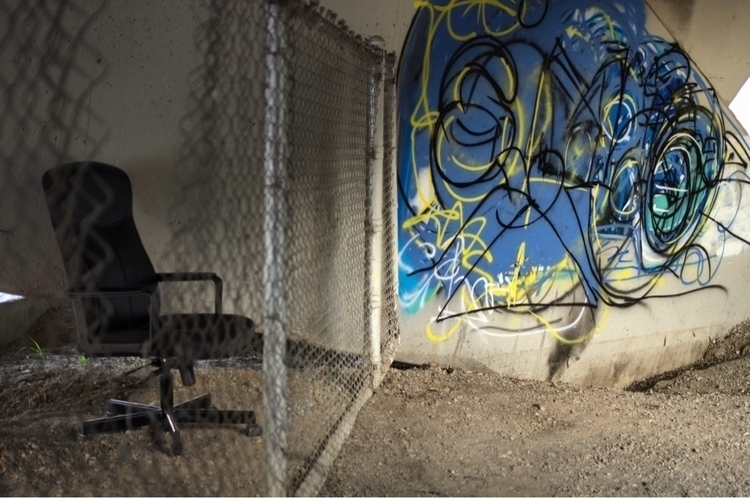 Graffiti chair LA River - lariver - talyo | ello