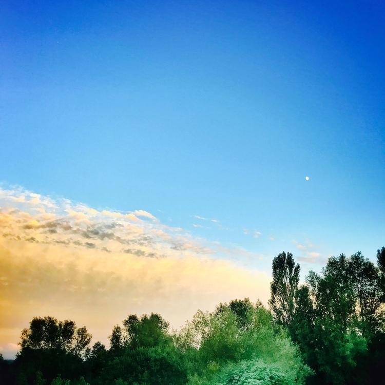 sunset, blueskyandthemoon, lightandshadows - willkreutz | ello