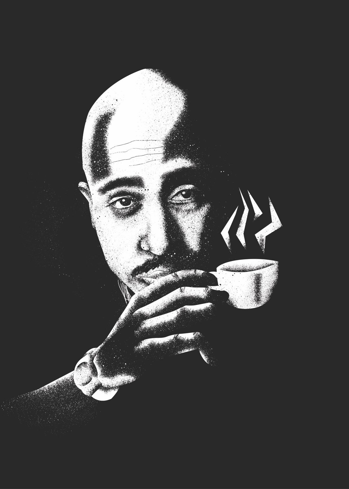 Espreccoz - illustration, Tupac - tomscampsite | ello