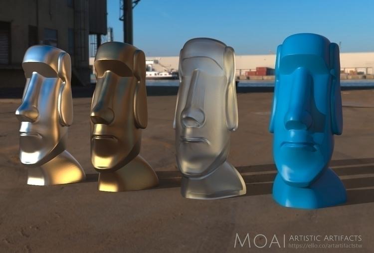 Moai-Standard version (smooth)  - artartifactstw | ello
