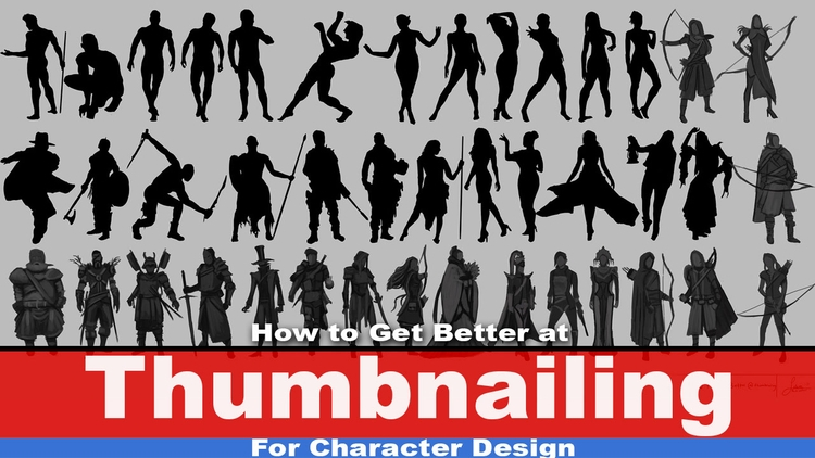 Thumbnailing Character Design  - rain_walker | ello