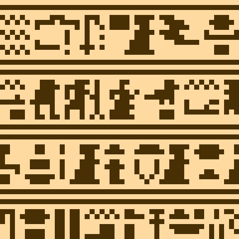 ヒエログリフっぽいやつ。 hieroglyphs - pixelart - toishitech | ello