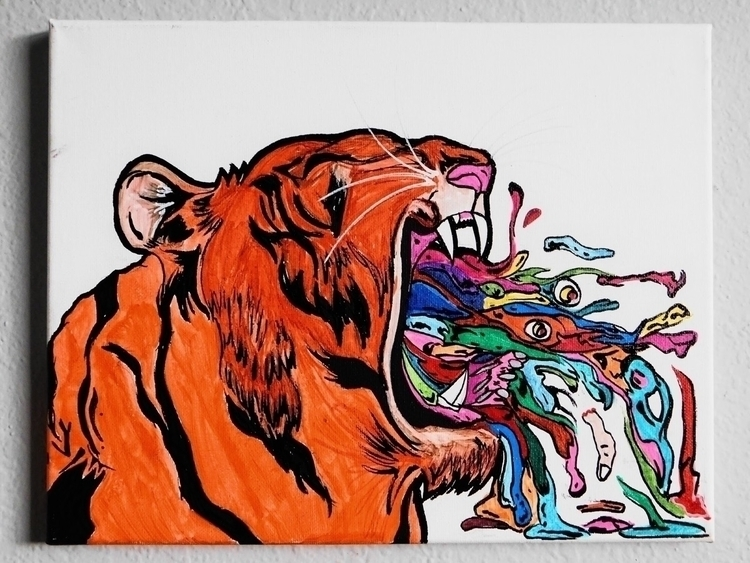 Tigers Breath || - artwork, art - drugquests | ello