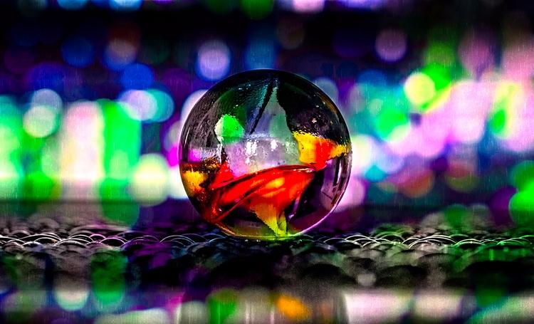 Singing Rain - marbles, water, abstract - doc | ello