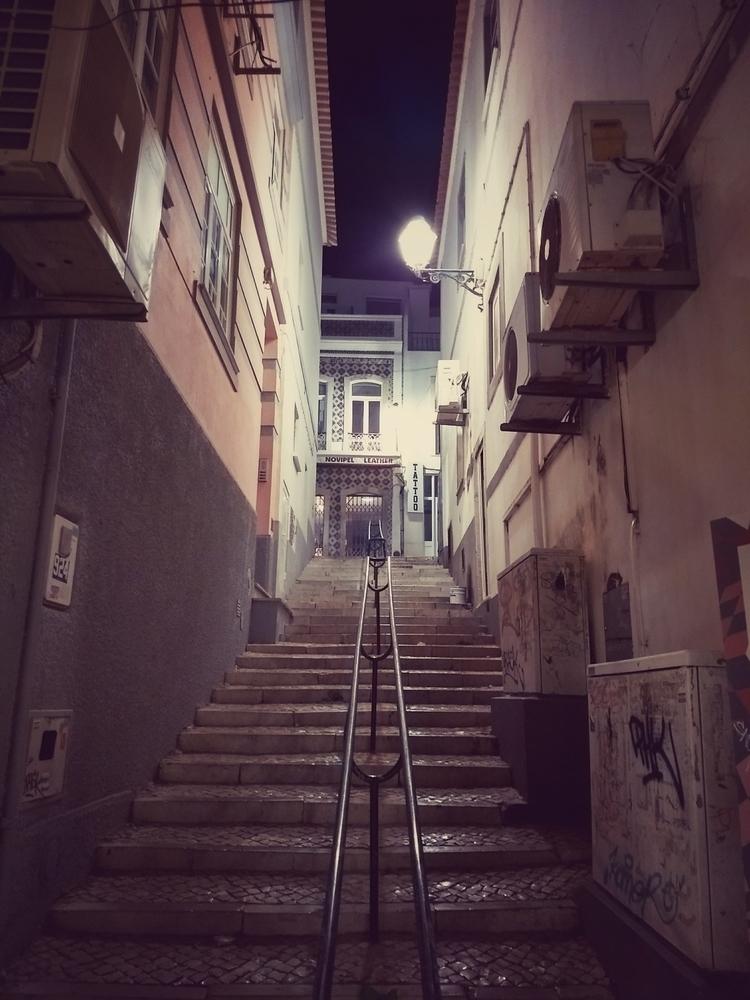 night, stairs, lights, neonlights - claudio_g_c | ello