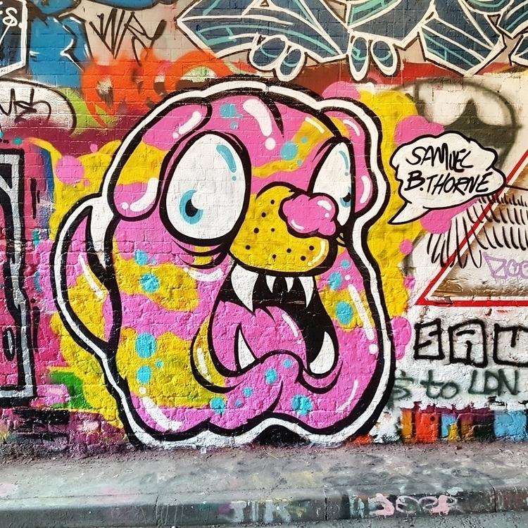 Painted doggo Leake Steet Tunne - samuelbthorne   ello